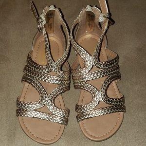 Multi tone girls size 12 sandals